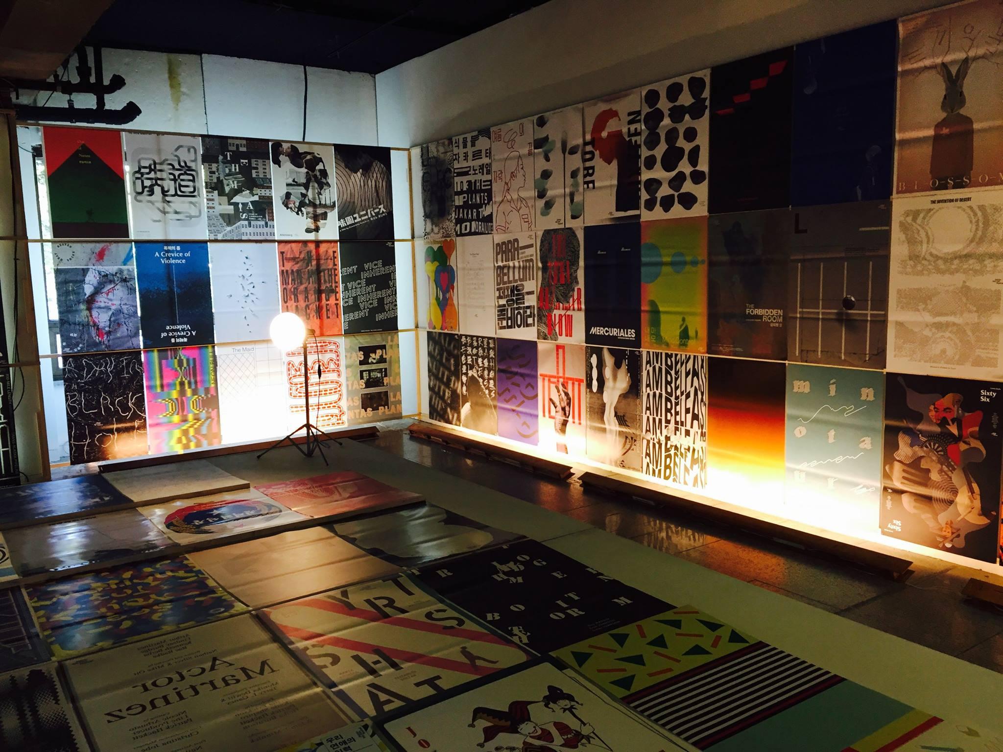 '100 필름 100 포스터'(2015~2016)전 1층 전시 전경
